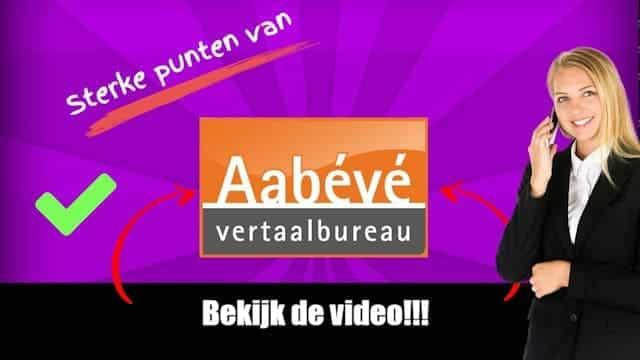 Video Aabévé-sterke punten
