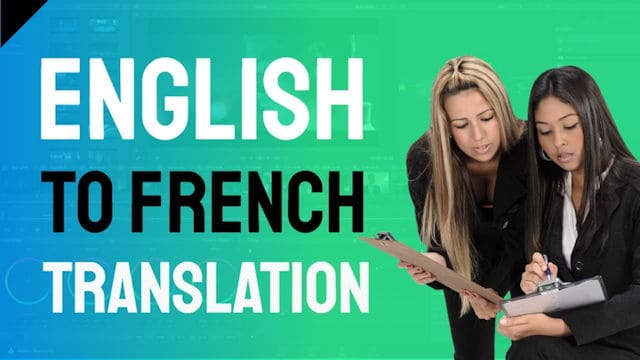 video English to French translation