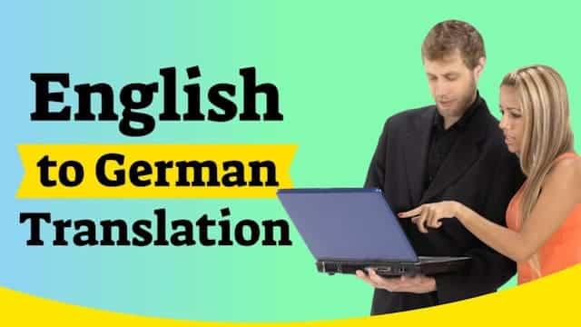 video English to German Translation