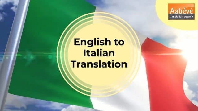 video English to Italian Translation