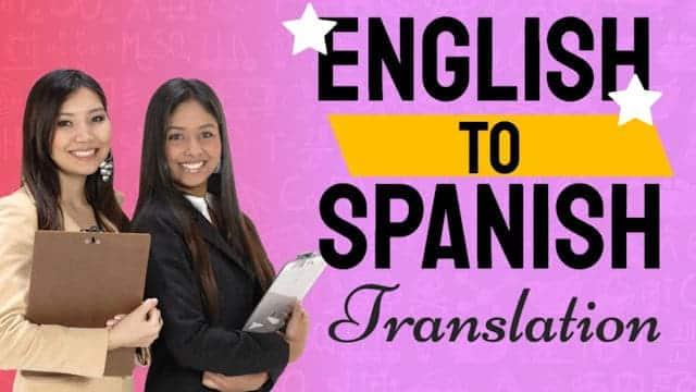 video English to Spanish Translation